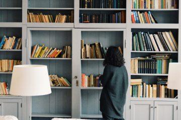 Header image -- bookshelves